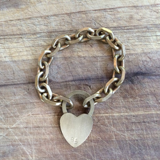Image of lock my heart away bracelet