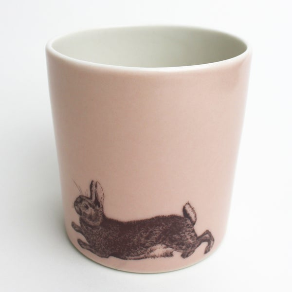 Image of 14oz tumbler with rabbit, rose