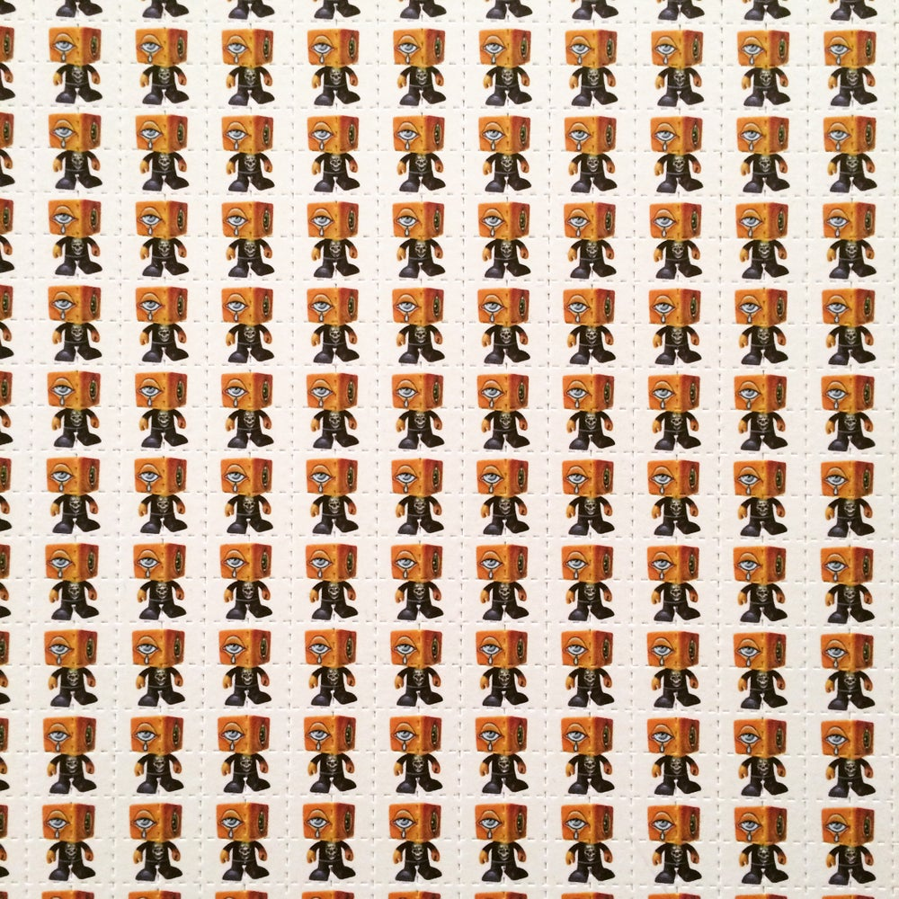 Image of Man-e-eyes Blotter Paper Prints