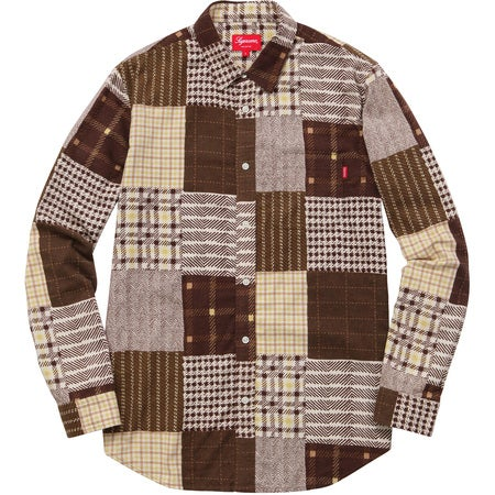 Image of Supreme - Printed Patchwork Flannel Shirt (Brown)