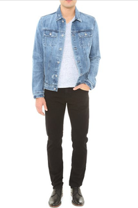 Image of Adriano  Goldschmied-Men's Jean distressed light denim jacket