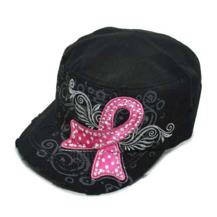 Image of Breast Cancer Awareeness Pink Ribbon Hats