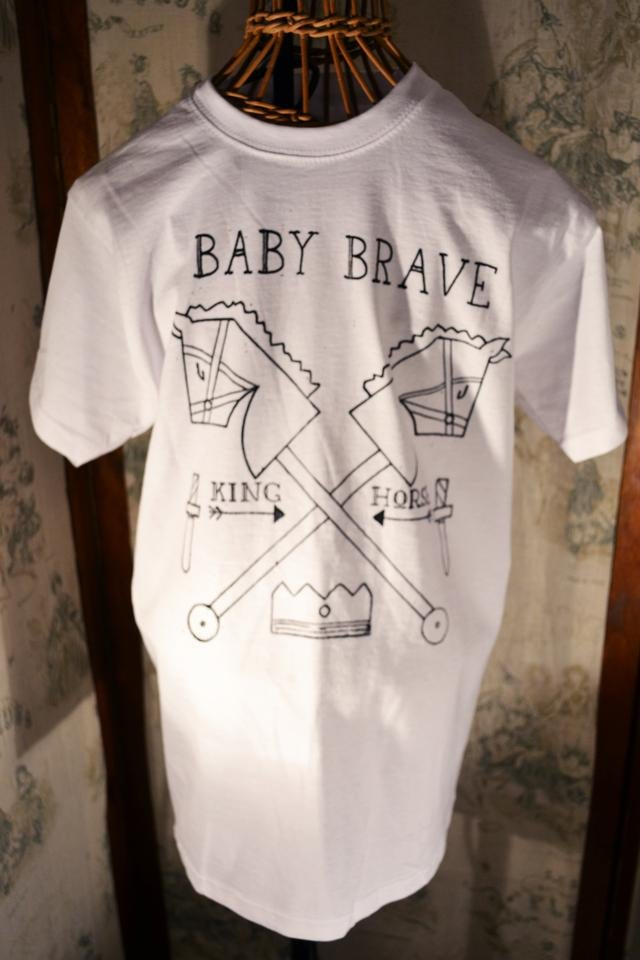 Image of Men's Baby Brave King Horse Tee