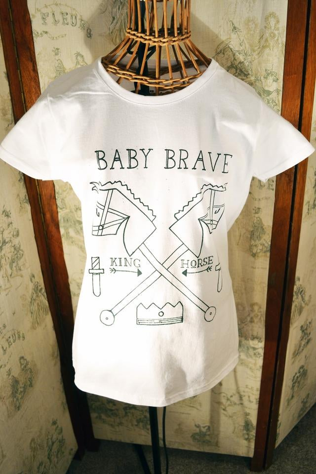 Image of Women's Baby Brave King Horse Tee