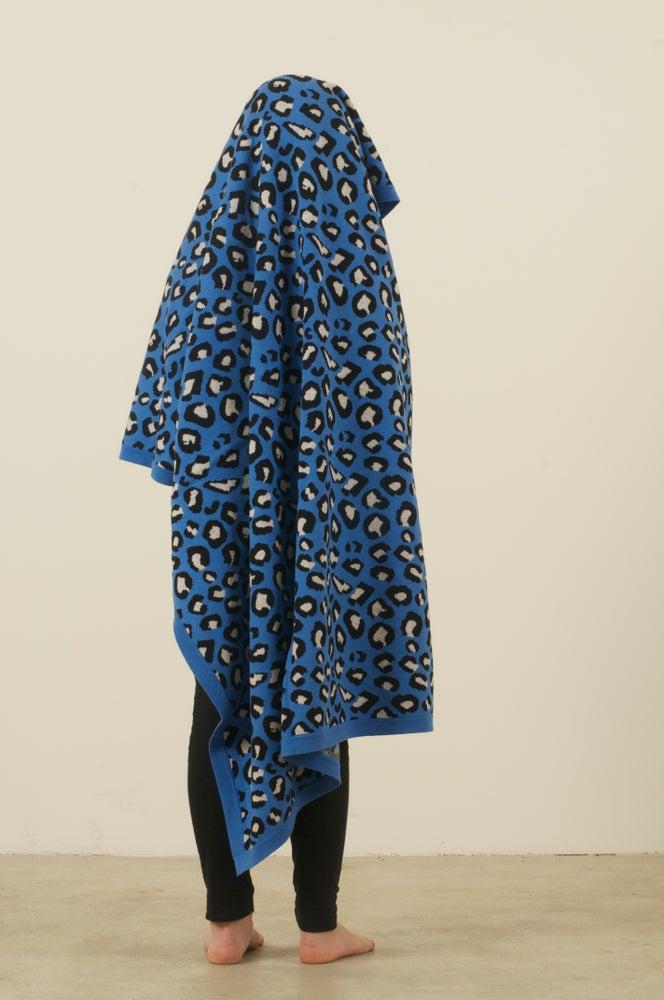 Image of Leopard Blanket Blue