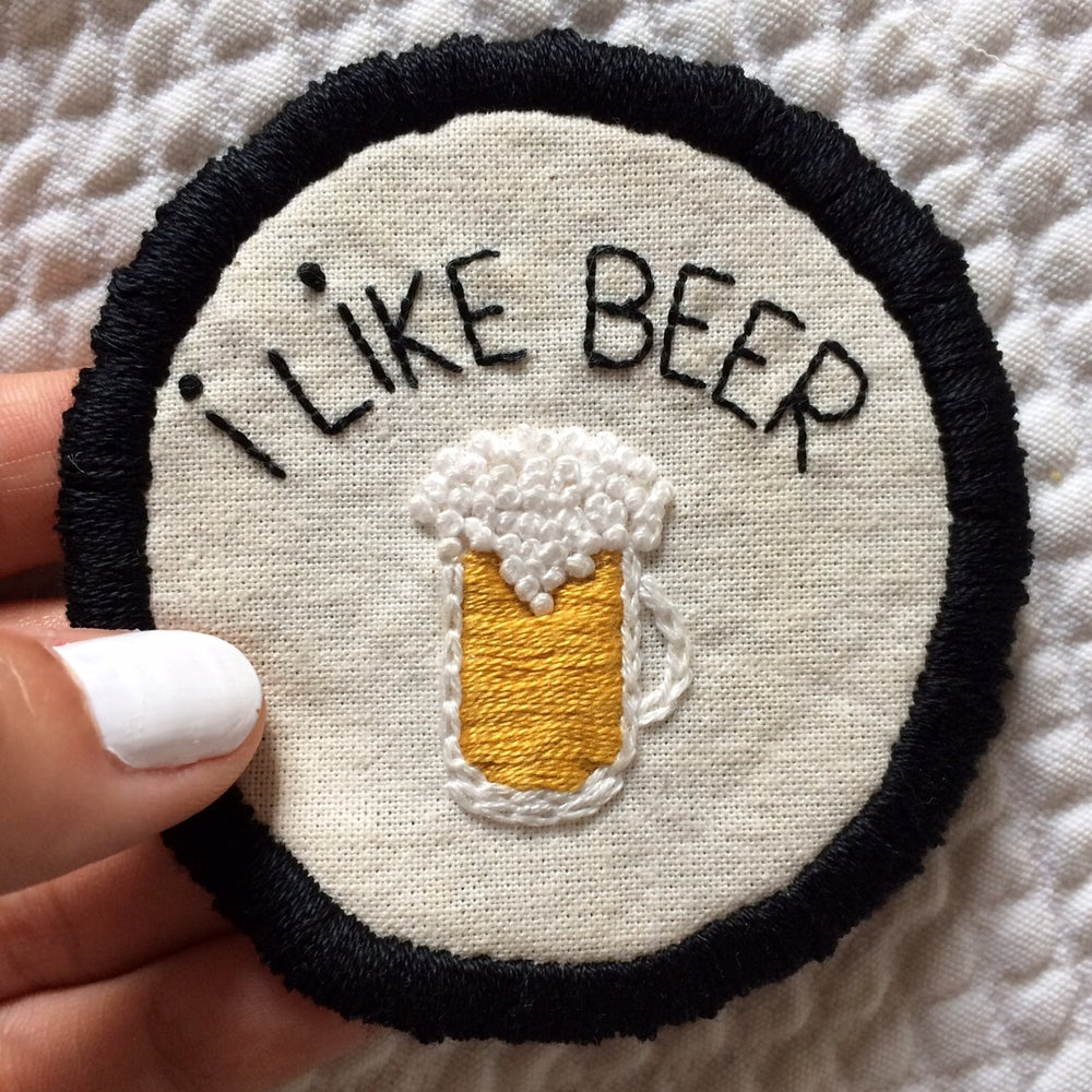 """Image of Patch """"I like beer"""""""