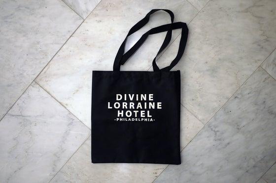 Image of DIVINE LORRAINE HOTEL X N.SHEIKH TOTE BAG