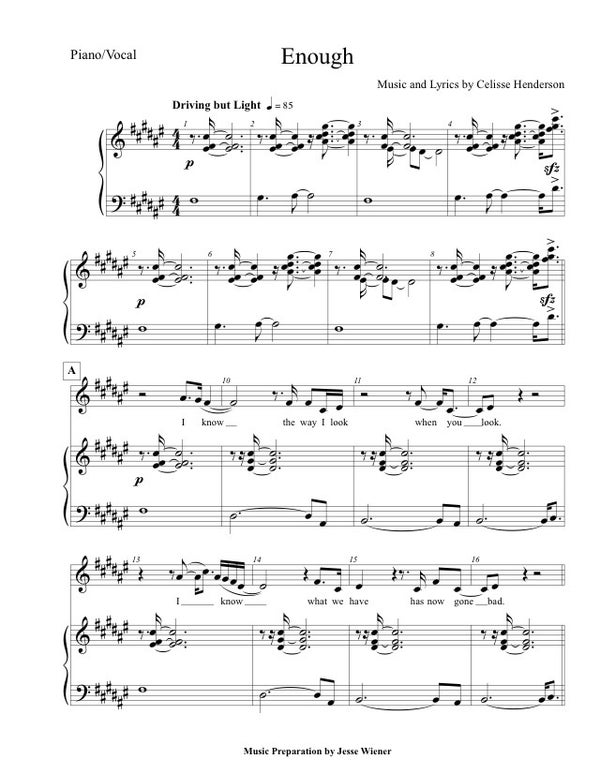 "Image of Sheet Music - ""Enough"""