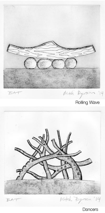 Image of Limited Edition Suite of Etchings by Mitch Ryerson