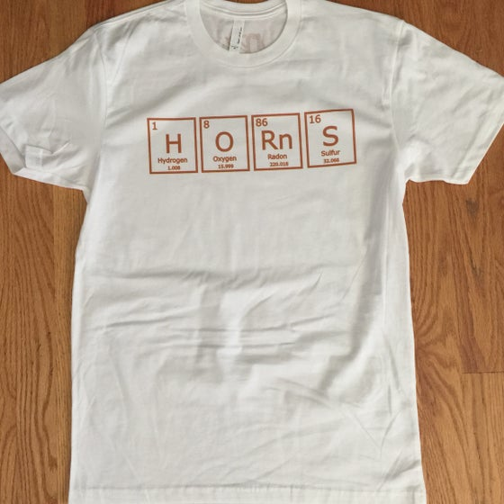 Image of periodic horns. - graphic tee