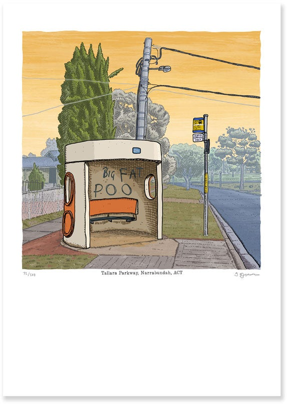 Image of Tallara Parkway, Narrabundah Bus Shelter
