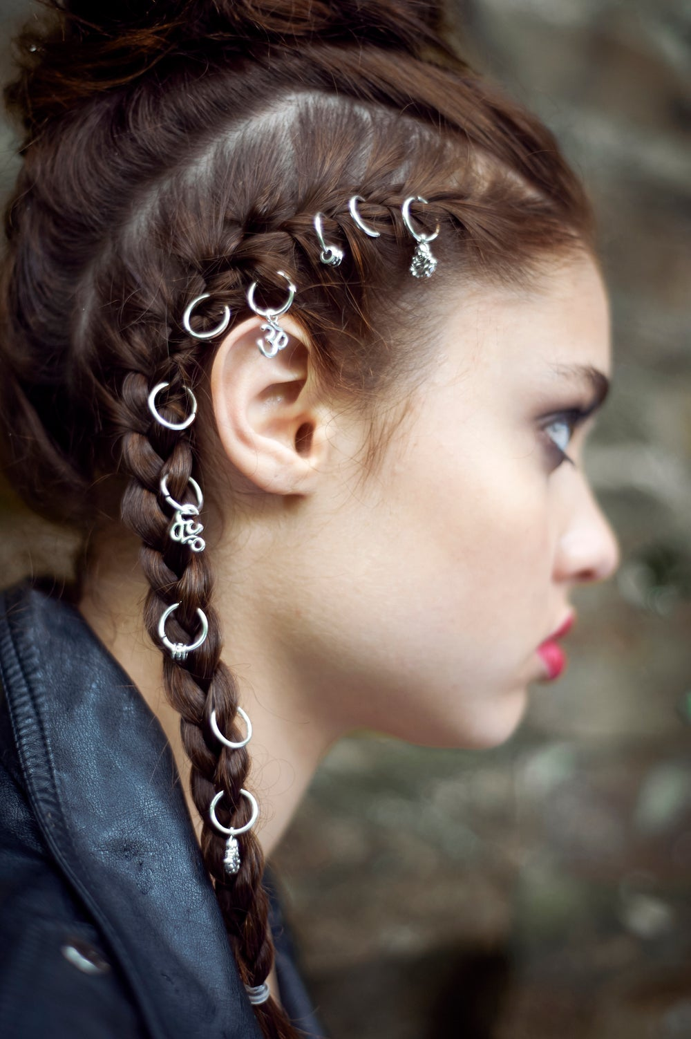 Image of Dhyana Silver Hair Rings
