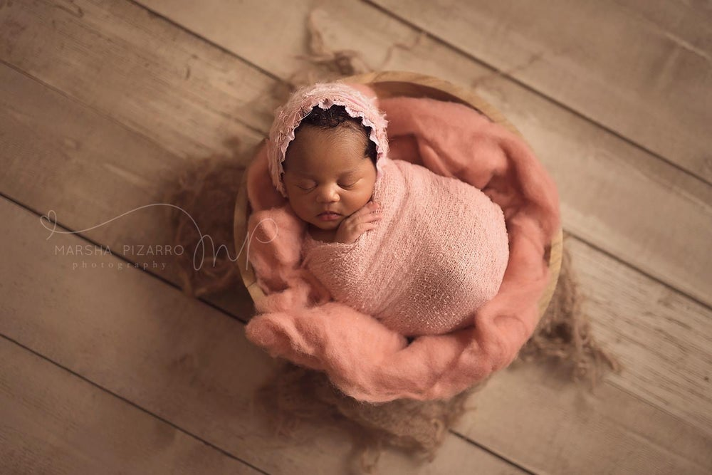 Image of ~ Crepele lace bonnet ~ Blush