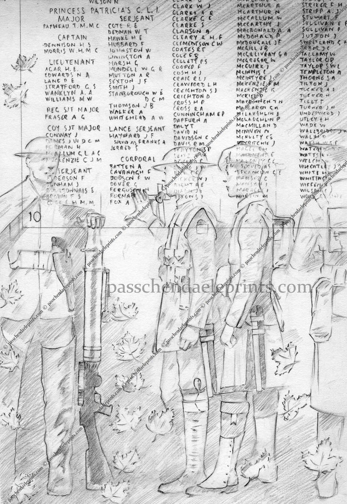 Image of Candadian Ghost Soldiers at the Menin Gate