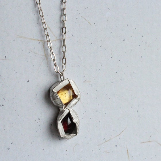 Image of Citrine and Garnet Pendant