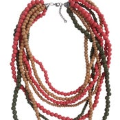 Image of Del Mar Multistrand Necklace (Olive Bell) by Eb&Ive