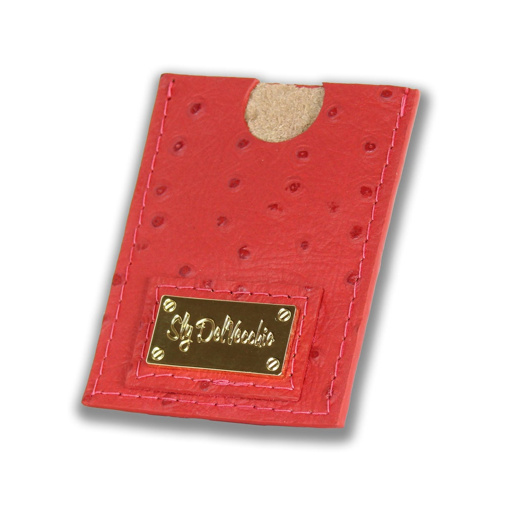 Image of Rosso Ostrich Wallet