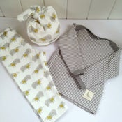 Image of Badger Print Baby Set