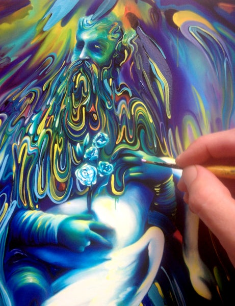 Image of Accession of forebearer Hand Embellished Print by Michael Page