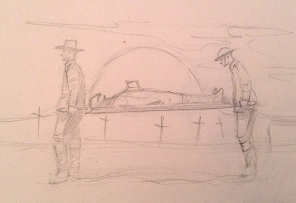 Image of After Fromelles ~ Original pencil on paper 4x6 inches