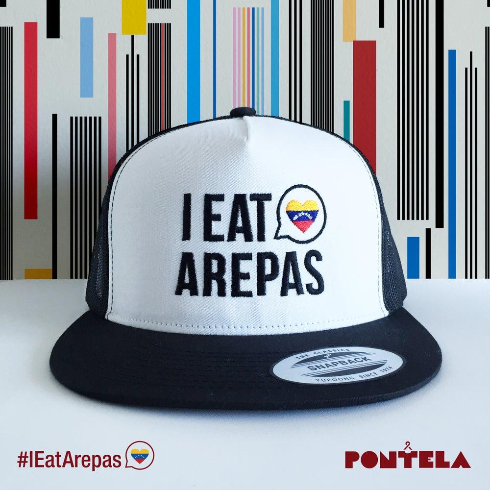 Image of I Eat Arepas Black/White Panel