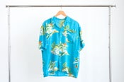 Image of Vintage 60s Hawaiian Button Up Blouse