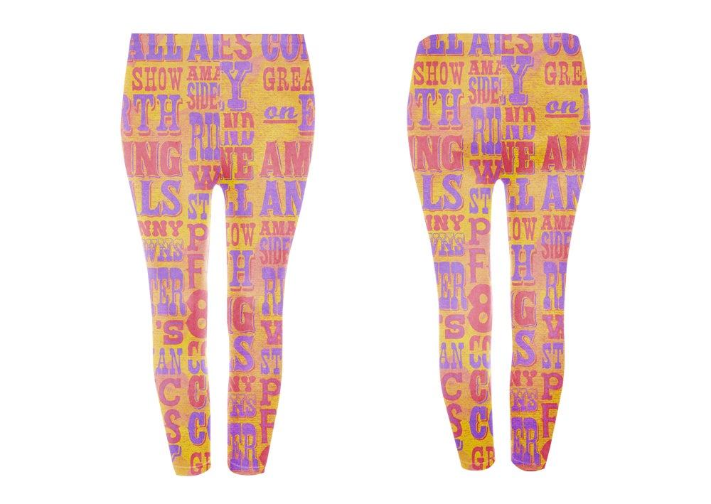 Image of Circus Lettering Leggings