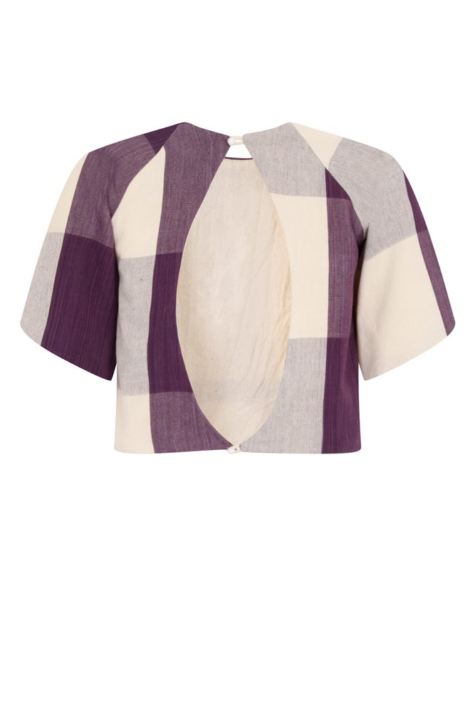 Image of The 'SEHEMU' Patchwork Detail Top