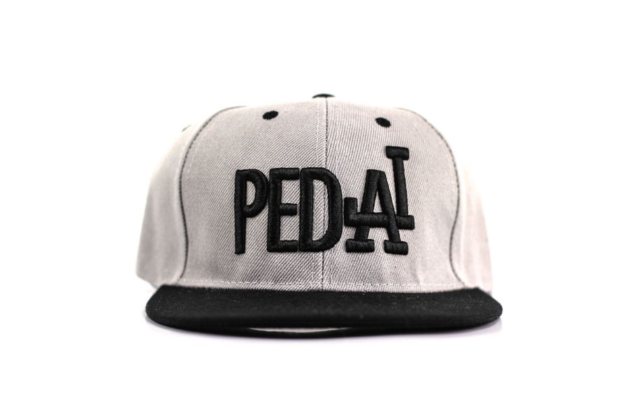 Image of PEDAL Grey Snapback Unisex One Size