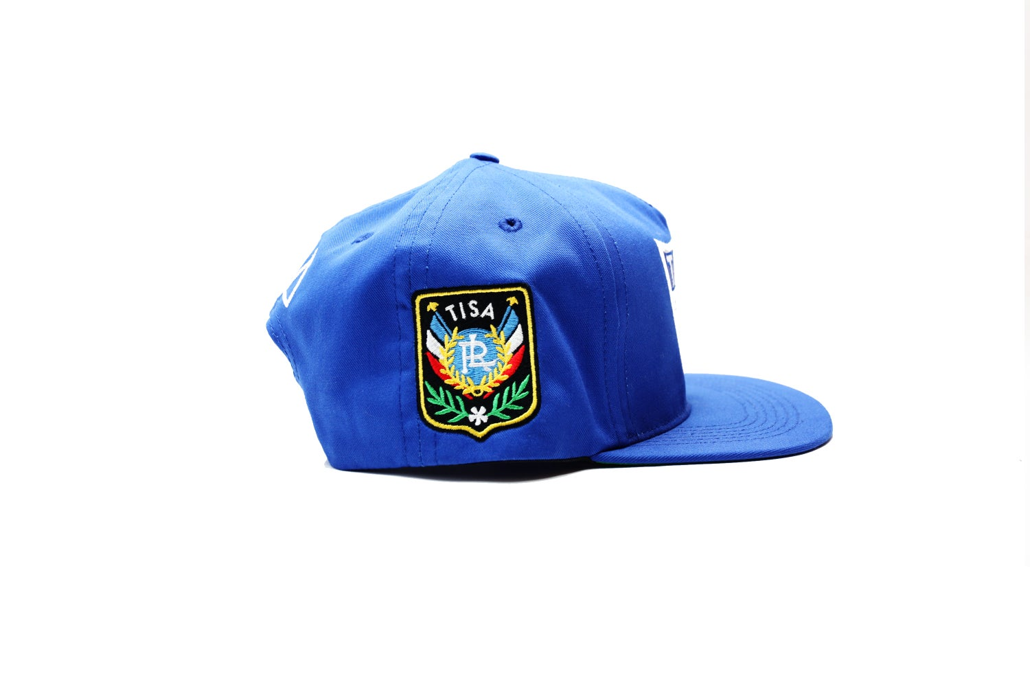 Image of TI$A SHIELD PATCHWORK CAP BLUE