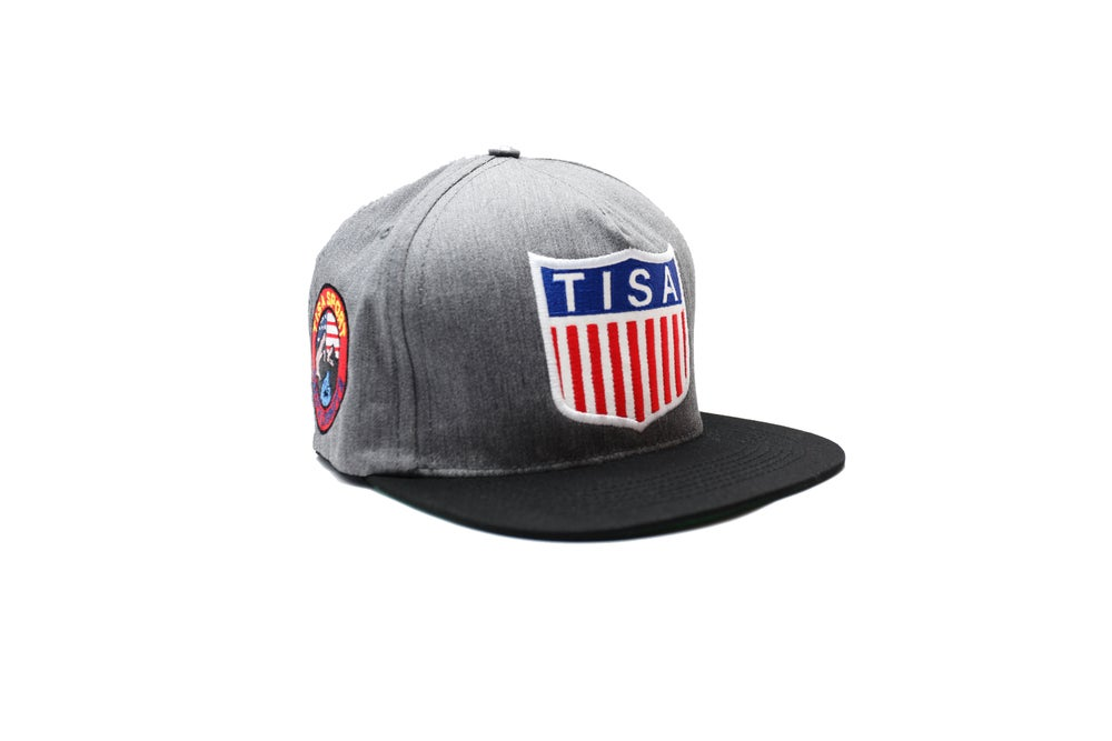 Image of TI$A SHIELD PATCHWORK CAP GREY