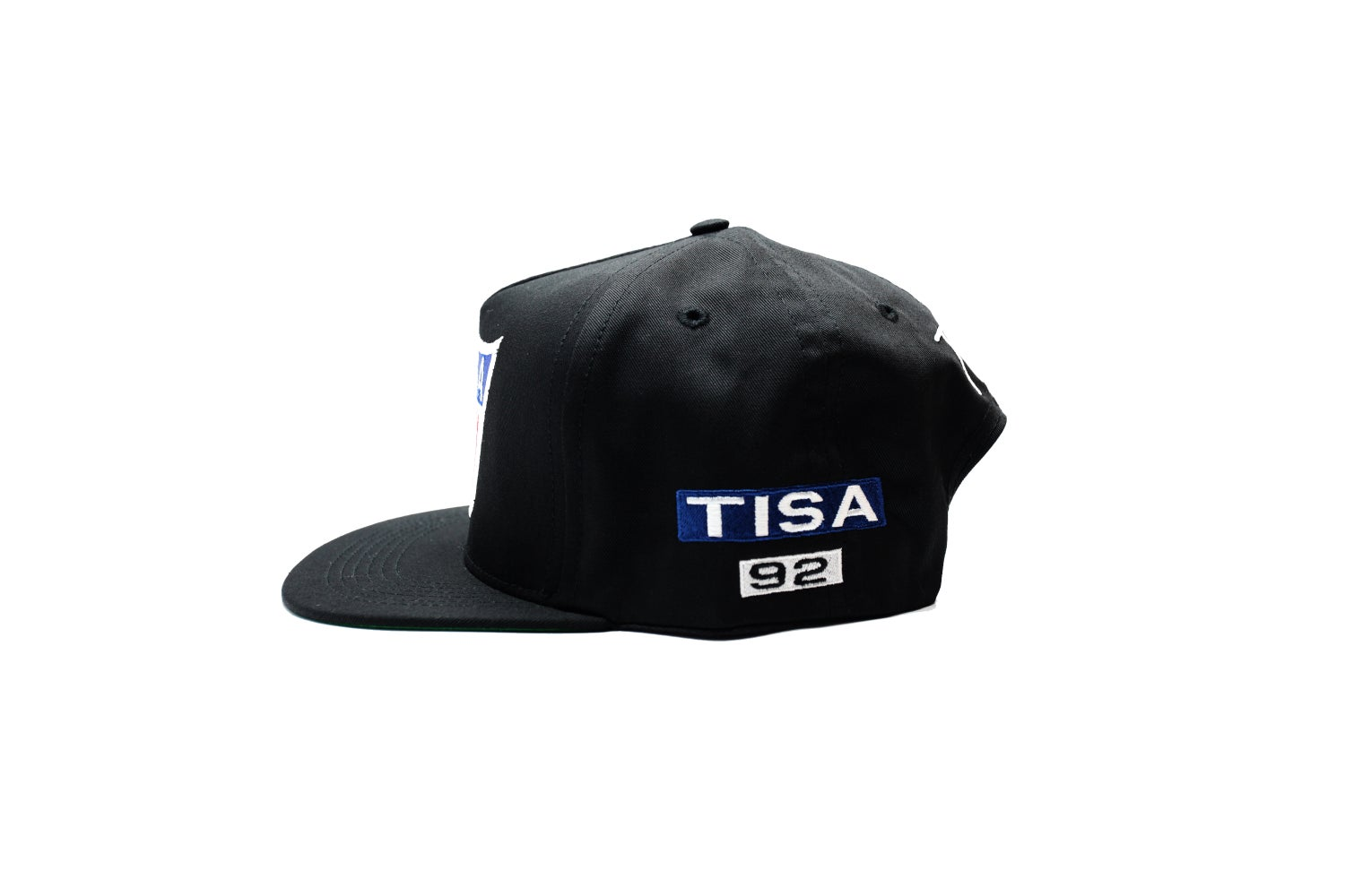 Image of  TI$A SHIELD PATCHWORK CAP BLACK