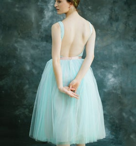 Image of 30% Off - The Tulle Skirt - Seafoam/Giselle Blue