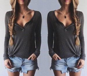 Image of Fashion hot long sleeve shirt top