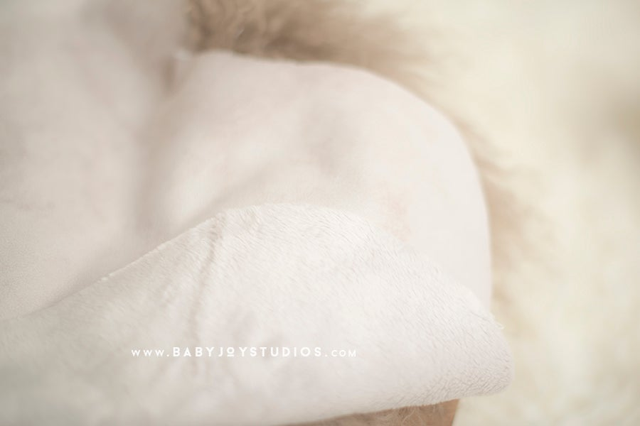 Image of {Faux fur shearling hide} Newborn Photo Prop