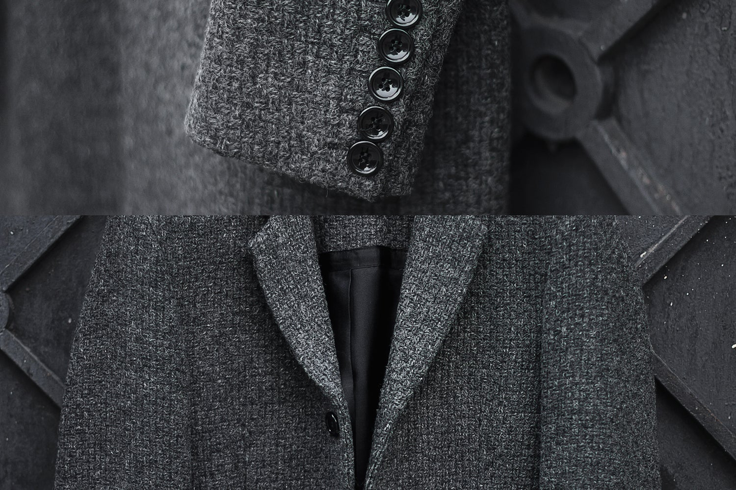 Image of LIMITED EDITION | Gray Boiled Wool Coat