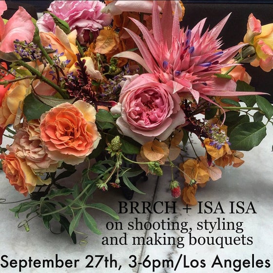 Image of Los Angeles Bouquet Workshop, September 27th, 3-6pm