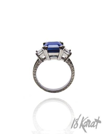 Christine's Sapphire Ring - 18Karat Studio+Gallery