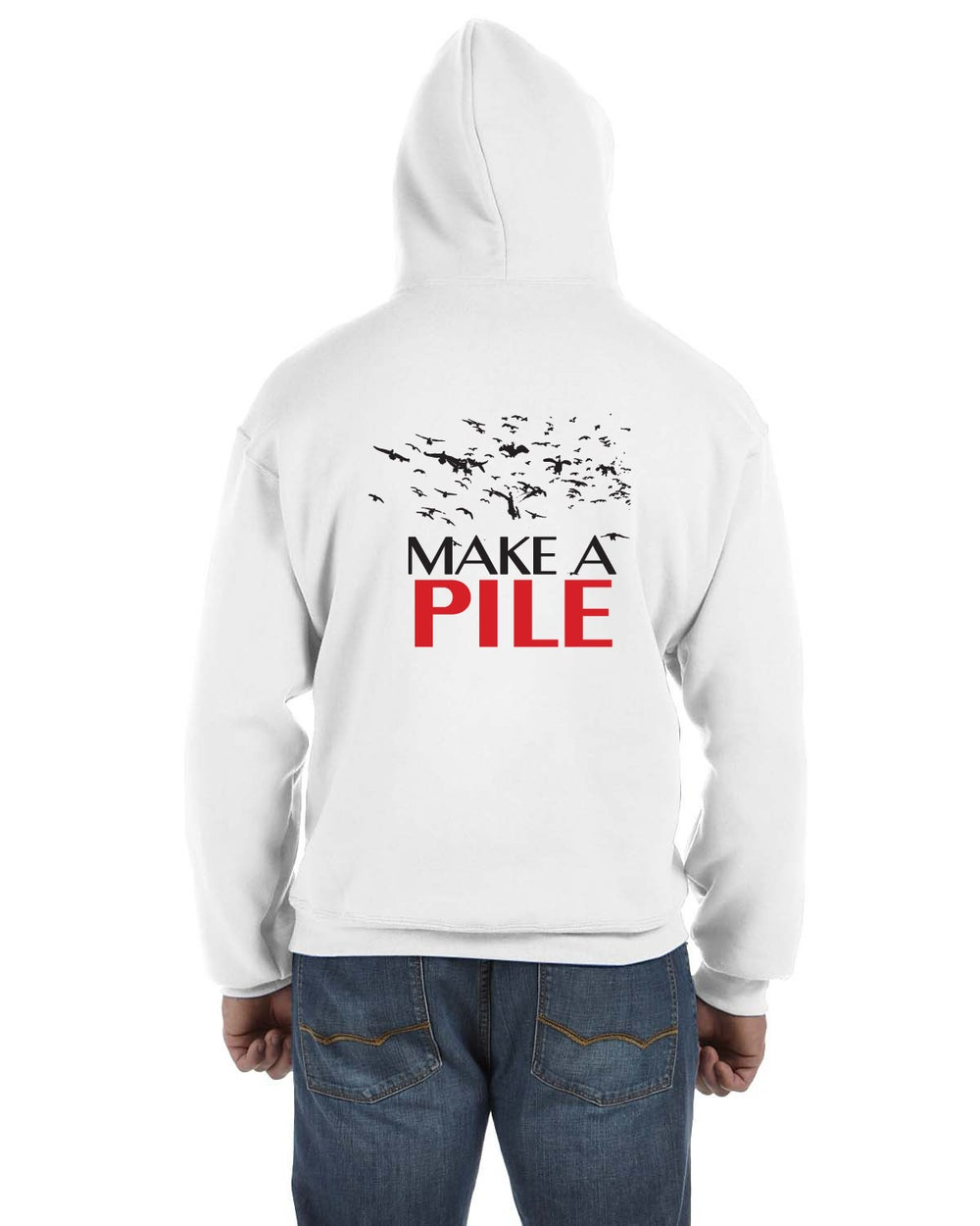 "Image of ""Make A Pile"" Snow Goose Hoodie"