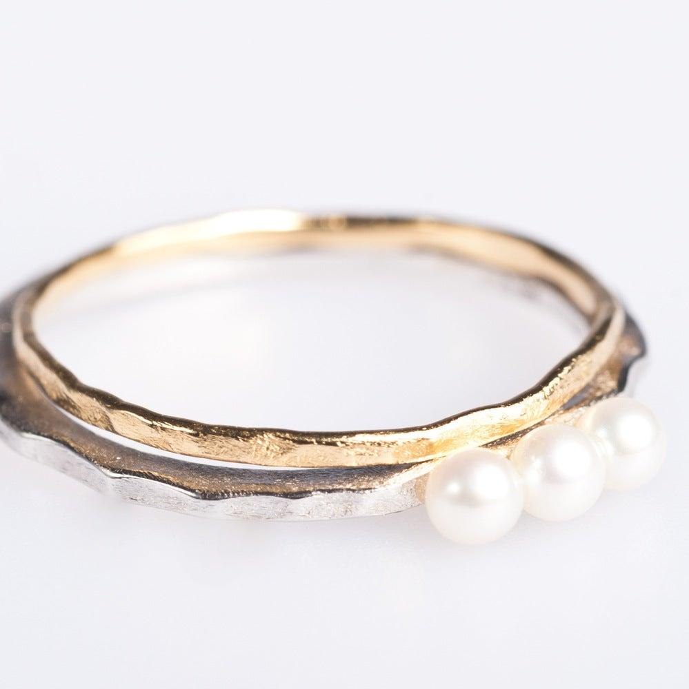 Hanne Schoofs  u2014 Fijne ringetjes zilver en zilver geel verguld, verlovingring, ringen Antwerpen
