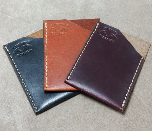 Image of Slim Minimalist Horween Chromexcel Leather Vertical Card Sleeve