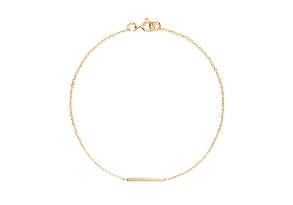 Image of LONG ALEXIS BAR BRACELET : 14K GOLD
