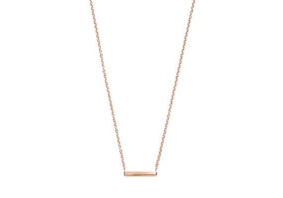 Image of LONG ALEXIS BAR NECKLACE : ROSE GOLD
