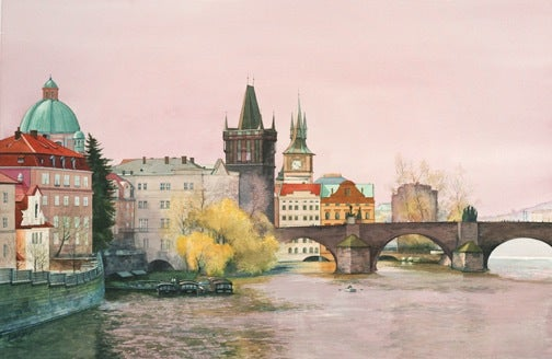 Image of Prague on the River Charles