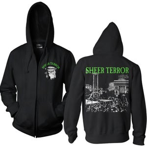 "Image of SHEER TERROR ""Hangman"" Hooded Zipper Sweatjacket"