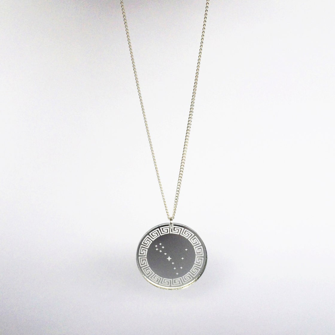 Image of Custom Silver ZODIAC CONSTELLATION Acrylic Necklace