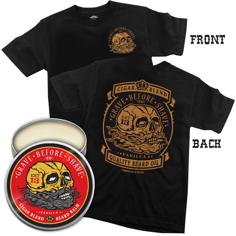 Image of GBS CIGAR BLEND Tee with Beard Oil or Balm combo