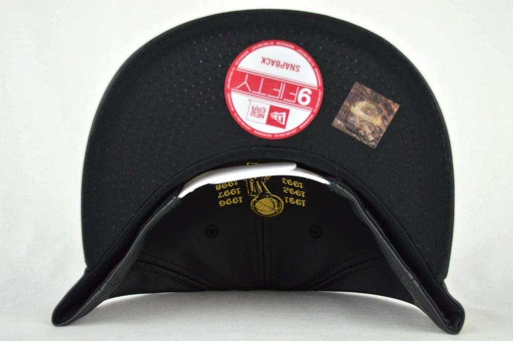 Image of CHICAGO BULLS CUSTOM LEATHER NEW ERA 950 SNAPBACK CAP