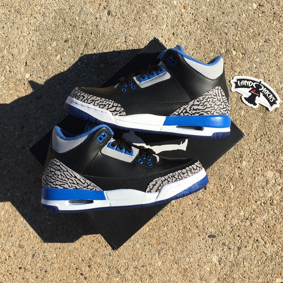 Image of Nike Air Jordan 3 Retro GS 'Sports Blue'