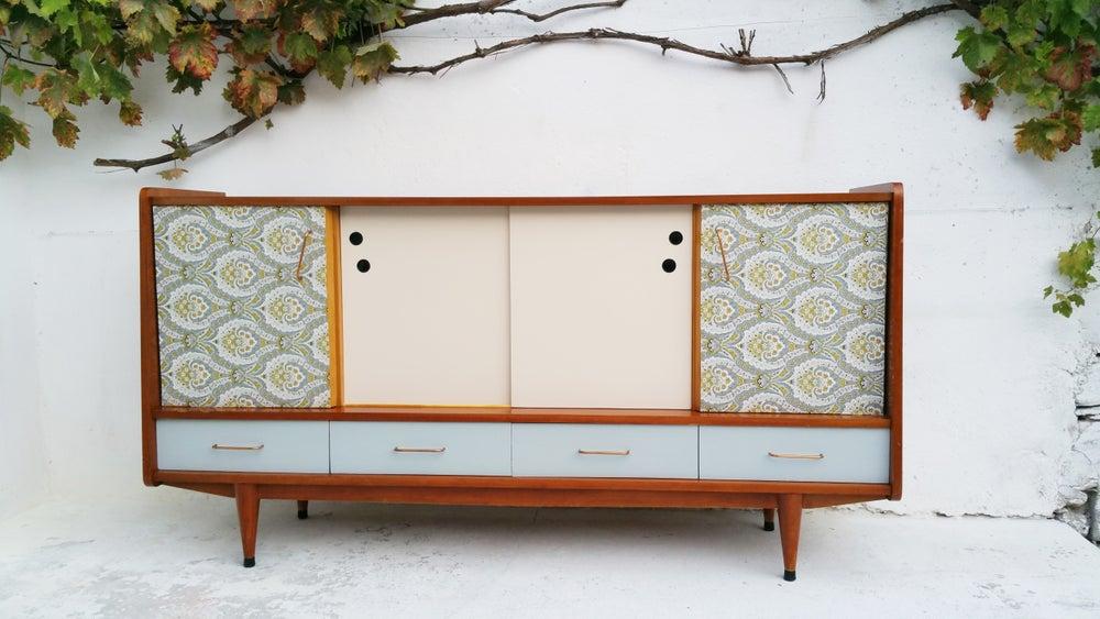 Image of Enfilade en bois plaqué acajou - Vintage